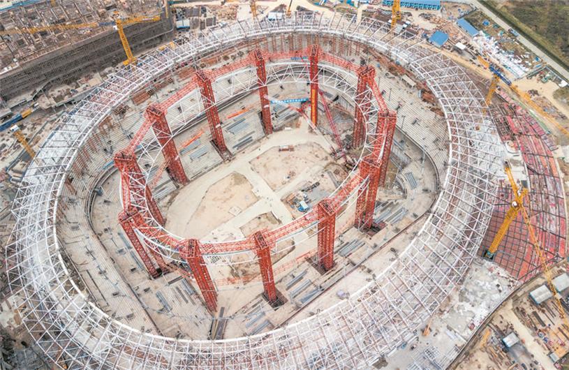 成都大运会筹备:13处新建场馆主体结构全部封顶