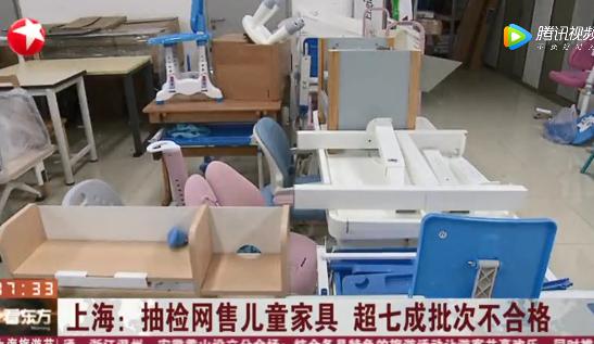 上海抽检网售儿童家具 超七成批次不合格