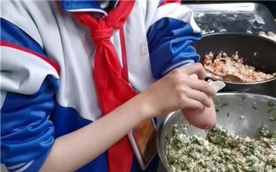 10岁独手女孩包饺子感动两亿人:正常人会的我都会
